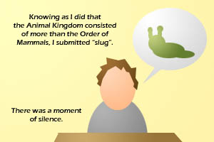 The slug is an animal.